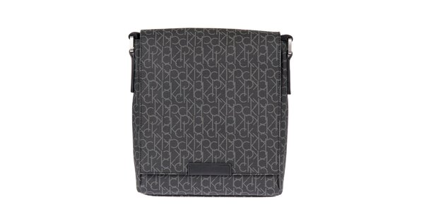 Pánská černá taška s potiskem Calvin Klein