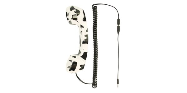 BasicXL telefonní retro sluchátko, strakaté - BXL-RT10