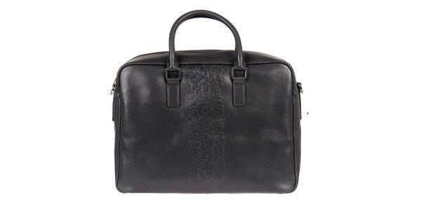 Pánská černá kožená taška Calvin Klein