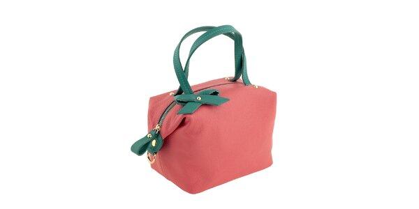 Dámská korálovo-zelená kabelka Valentina Italy