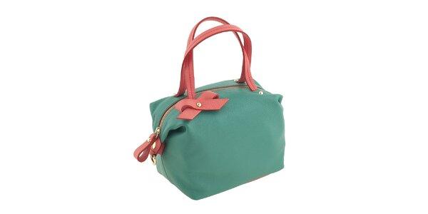 Dámská zeleno-korálová kabelka Valentina Italy