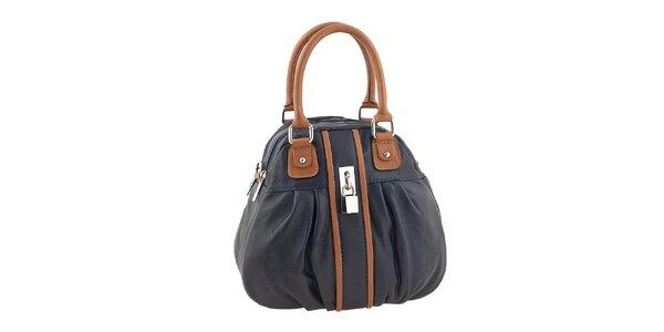 Dámská modro-hnědá kabelka se zámečkem Valentina Italy