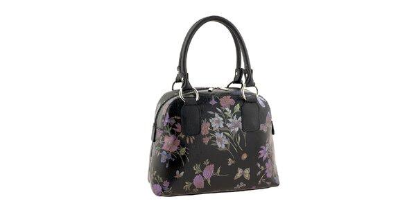 Dámská kabelka s květinovým potiskem v černé barvě Valentina Italy