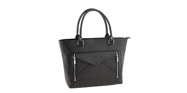Dámská černá kabelka s psaníčkem Valentina Italy