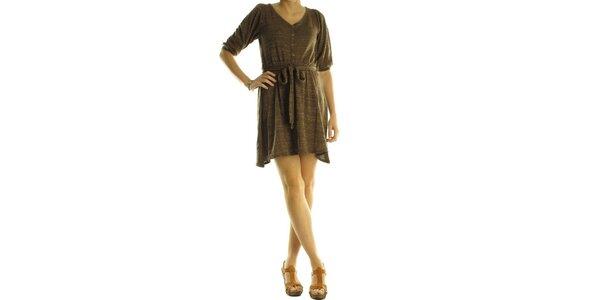 Dámské hnědé úpletové šaty Rocawear
