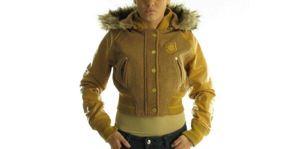 Dámská hnědo-béžová bunda Rocawear