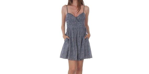 Dámské šedé vzorované šaty Tommy Hilfiger