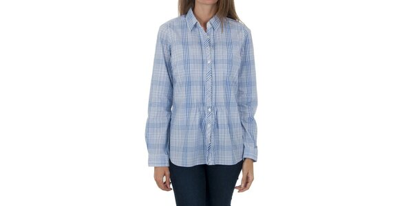 Dámská modrá kostkovaná košile Tommy Hilfiger