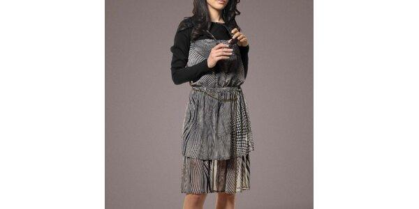 Dámské černo-bílé šaty Patricia Rado