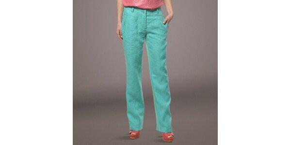 Dámské světle zelené lněné kalhoty Patricia Rado