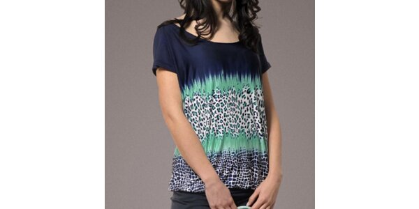 Dámské tmavě modré tričko se vzorem Patricia Rado