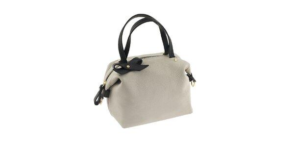 Dámská krémová kabelka s černými prvky a mašličkou Valentina Italy