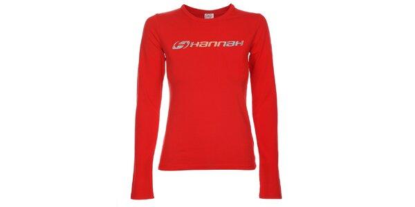 Dámské červené tričko Hannah s potiskem