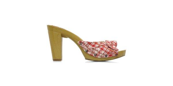 Dámské kárované boty na podpatku Elite