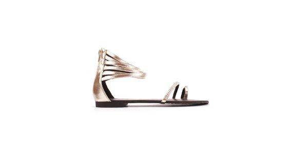 Dámské zlaté sandály Toscania