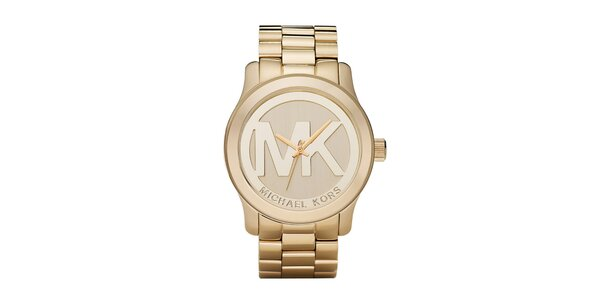 Dámské hodinky z ušlechtilé oceli ve zlaté barvě Michael Kors