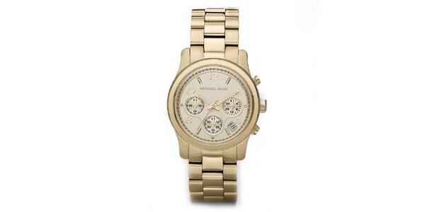 Dámské pozlacené ocelové hodinky Michael Kors se stopkami