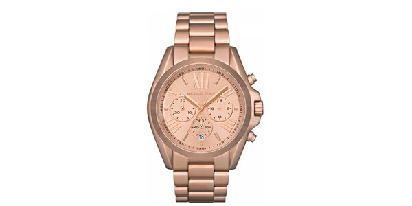 Dámské pozlacené hodinky s chronografem Michael Kors