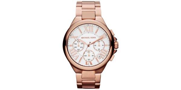 Dámské pozlacené ocelové hodinky s kulatým ciferníkem Michael Kors