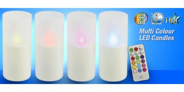 12 barevných interiérových LED svíček