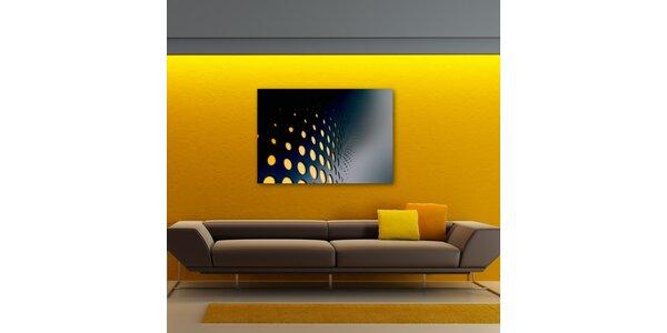 Abstratkní motiv (žluté puntíky)