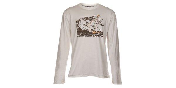 Pánské světle béžové tričko Hannah s potiskem