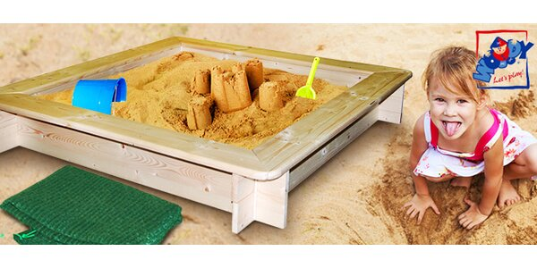 Dětské pískoviště Olymptoy s dřevěným rámem