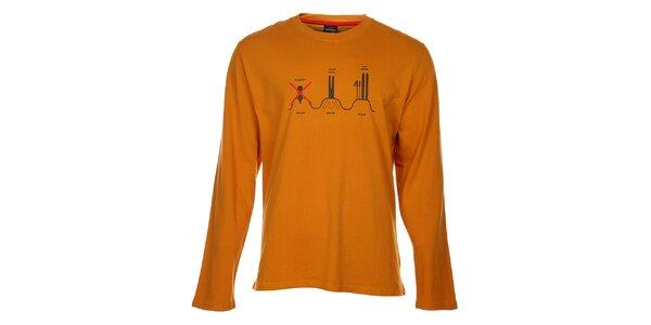Pánské oranžové tričko Hannah s potiskem