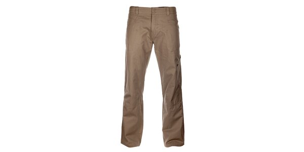 Pánské světle béžové bavlněné kalhoty Hannah