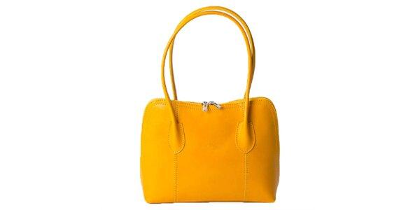 Dámská kanárkově žlutá obdélníková kabelka Pelleteria