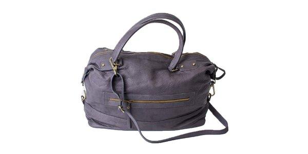 Dámská kožená šedivá kabelka Pelleteria