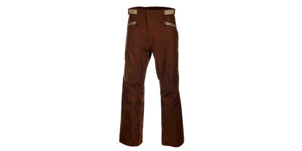 Pánské hnědé lyžařské kalhoty Hannah s membránou