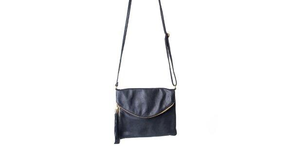 Dámská černá taška s klopou Pelleteria