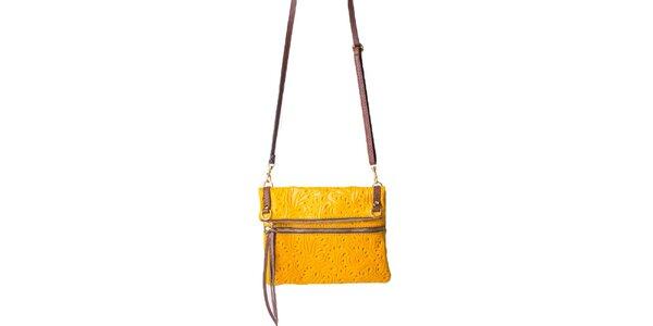 Dámská žlutá kabelka se vzorem Pelleteria