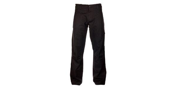 Pánské tmavě šedé bavlněné kalhoty Hannah