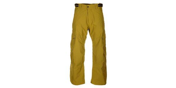 Pánské zelenožluté lyžařské kalhoty Hannah