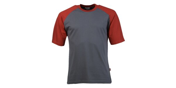 Pánské šedo-červené tričko Respiro