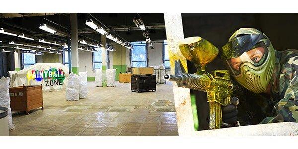 Paintball v kryté hale včetně veškerého vybavení