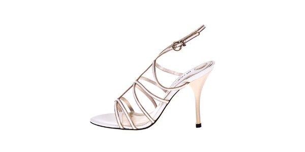 Dámské bílé kožené sandálky El Dantes