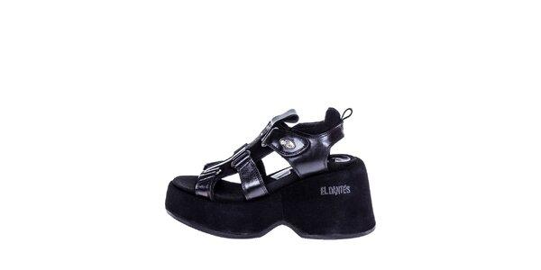 Dámské bytelné sandály v černé barvě El Dantes