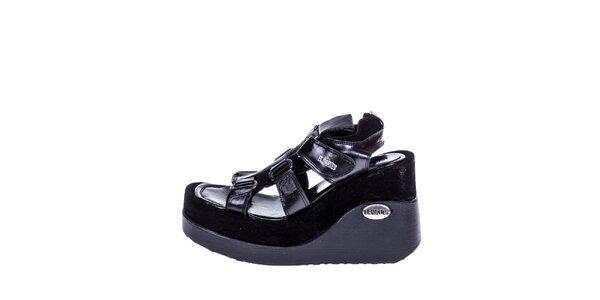 Dámské černé sandály na klínku El Dantes