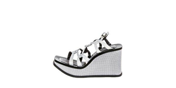 Dámské šedé sandály na klínku El Dantes