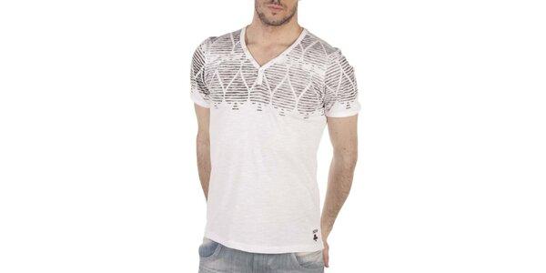 Pánské bílé tričko s pokerovým potiskem SixValves