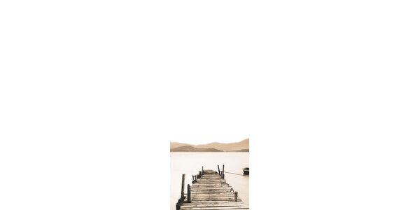 Poznámková tabule - Dřevěné molo 30 x 80 cm