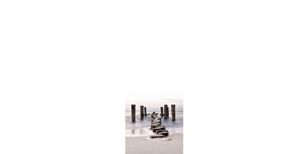 Poznámková tabule - Molo z kamenů 30 x 80 cm