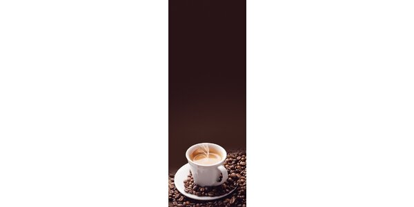 Poznámková tabule - Coffee time 30 x 80 cm
