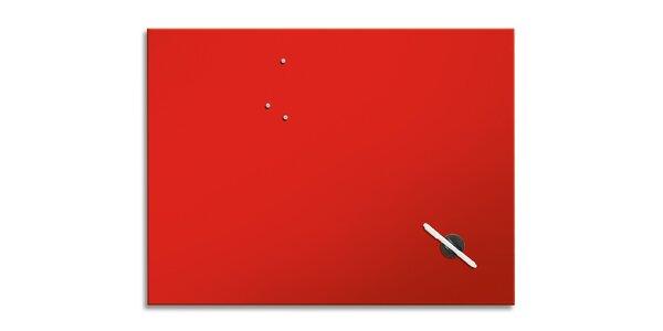Poznámková tabule - Červená - 60x80 cm