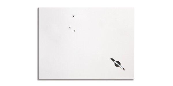 Poznámková tabule - Bílá - 60x80 cm