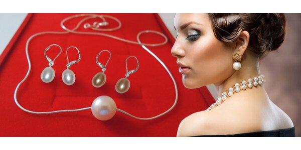 Perlové šperky - náhrdelník nebo dvoje náušnice