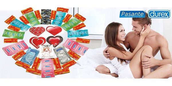 Valentýnský balíček kondomů - na výběr 2 druhy